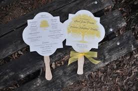 Wedding Program Fans Cheap Fan Wedding Programs Ella Wiregrass Weddings