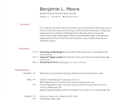 Curriculum Vitae Samples In Pdf by Building An Academic Cv In Markdown Blm Io