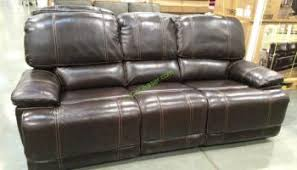 pulaski leather reclining sofa power recliner sofa costco tantani co