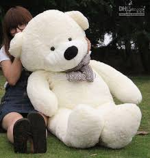 2018 1 4m oversized teddy bears white plush gift from chengzi520