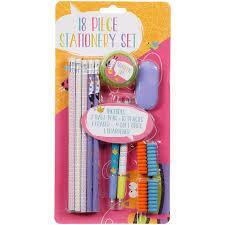 stationery set stationery set 18pc kids stationery pencils b m