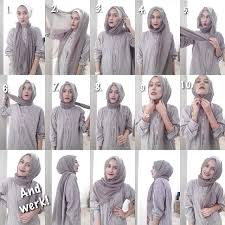 tutorial hijab turban untuk santai awesome side draped hijab tutorial hijab tutorial pinterest