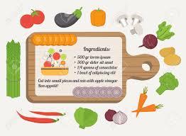 fiche cuisine fiche recette modèle culinaire avec des icônes alimentaires et les