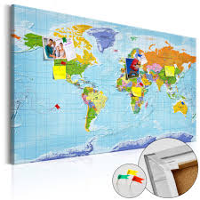 Cork World Map by Fabric Pin Board World Map Countries Flags Cork Map