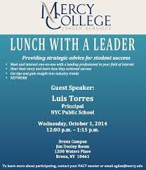 Lunch Invitation Card Lunch With A Leader Luis Torres Principal Nyc Public Schools