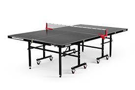 ping pong table tennis amazon com killerspin myt7 blackstorm table tennis table black