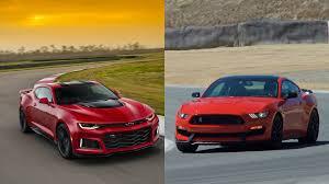 camaro z28 vs mustang gt 2017 camaro zl1 vs 2016 mustang gt