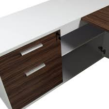 L Shaped Desk Left Return Left Return Melamine L Shape Desk Walnut National Office