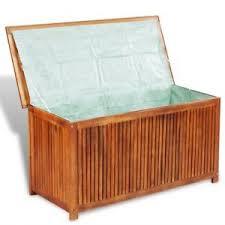 outdoor patio garden acacia wood storage deck box chest pool yard