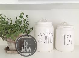 giveaway closed rae dunn coffee and tea canister my 100 year