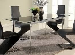 Black Glass Extending Dining Table Exclusive Kitchen Dining Tables And Suits In Many Contemporary