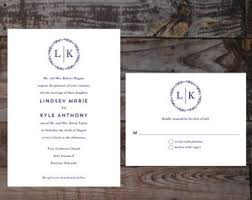 Monogram Wedding Invitations Formal Pink And Navy Monogram Wedding Invitations Formal