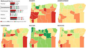 Crime Rate Map Poverty In Oregon Interactive Maps Show Rising Medicaid Rates