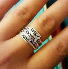 rings that say say it on a ring custom jewelry heidijhale