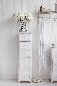 maine tall slim 6 drawer unit white cottage bedroom furniture