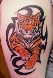 tiger tattoo designs for men 12 tiger with tribal tattoo design