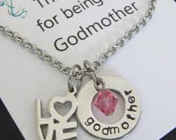godmother necklace godmother necklace etsy