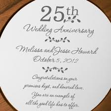 25th anniversary plates personalized anniversary personalized wooden plate