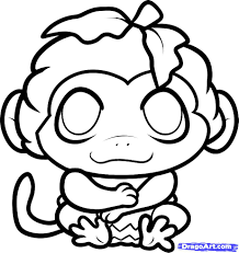 how to draw a halloween monkey halloween monkey step by step