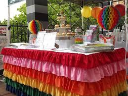 fuschia pink table cloth rainbow ruffle tablecloth on luulla