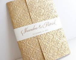 wedding invitations and gold gold foil invitation etsy