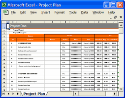 Simple Project Plan Template Excel Project Plan Ms Word Excel Forms Spreadsheets Templates
