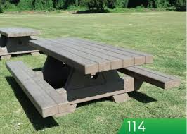 round cement picnic tables outdoor creations picnic tables