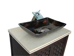 Giovanni Vessel Sink Vanity Cabinet Model HFA With Matching - Bathroom vanities double vessel sink