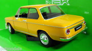 bmw 2002 model car nex models 1 24 scale 24053w bmw 2002 ti orange diecast model car