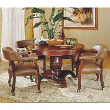 Dining Room Chairs Casters Steve Silver Tournament Tournament Round Game Table U0026 Caster Arm
