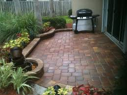 Simple Brick Patio With Circle Paver Kit Patio Designs And Ideas by Permit Needed For Paver Patio The Home Depot Community