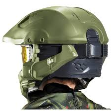 halo master chief full helmet for kids buycostumes com