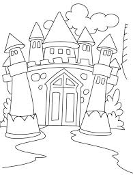 amazing princess castle coloring pages intended
