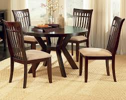 Circular Dining Room Chair Ohana Black Round Dining Room Set From Homelegance Coleman