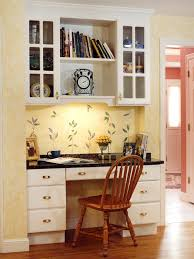 kitchen with built in desk