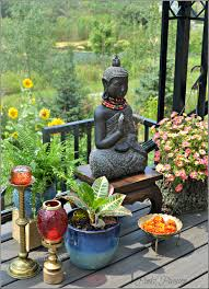 outdoor garden zen place buddha corner outdoor plants styling