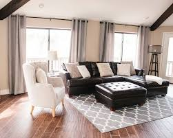 Living Room Ideas With Black Leather Sofa Bathroom Design Black Decor Brown Sofa Living Room With
