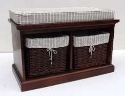 Outdoor Storage Bench Bench Indoor Benches With Storage Wicker Storage Bench With