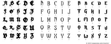 imagenes letras goticas nombres góticas