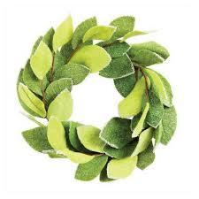 creative co op felt magnolia wreath typo market