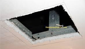 Ceiling Water Damage Repair by How To Repair Drywall Ceiling Water Damage Repair Panel Bracing
