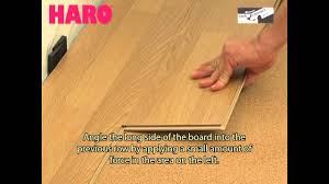 How To Lay Laminate Floors Haro Laminate Floor Installation Video Lock Connect Plus En