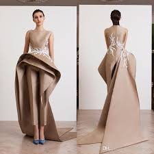 stylish jumpsuits 2018 stylish jumpsuits prom dresses bateau neck appliqued evening