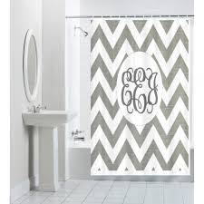 white shower curtain monogrammed u2022 shower curtain