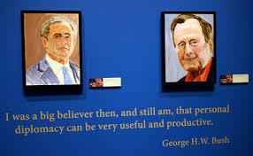 George W Bush Birth Former President George W Bush Publishes Book Featuring His Oil
