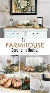 fall farmhouse decor on a budget