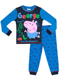 peppa pig boys george pig pajamas clothing