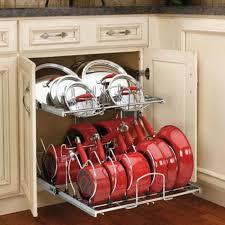 kitchen cupboard storage ideas ebay pots and pans rack kitchen cabinet organizer cookware 2 tier