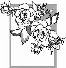 rose picture frame coloring page download u0026 print online