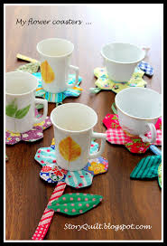 quick and easy sewing project flower coaster sewing pattern